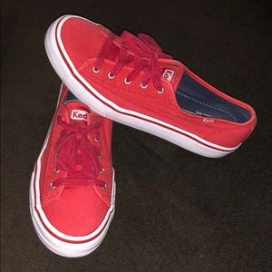 Red and White Keds Size 8.5